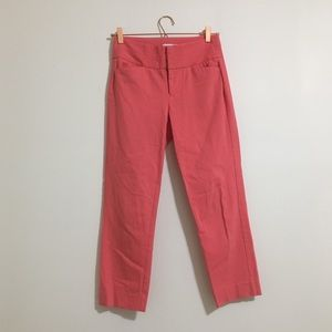 3/25 Elle Pink Cropped Ankle Pants Size 2